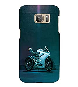 printtech Bike Superfast Back Case Cover for Samsung Galaxy S7 :: Samsung Galaxy S7 Duos with dual-SIM card slots