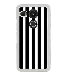 Black and White Lines 2D Hard Polycarbonate Designer Back Case Cover for LG Nexus 5X :: LG Google Nexus 5X New