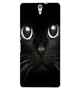ColourCraft Cute Cat Design Back Case Cover for SONY XPERIA C5 ULTRA