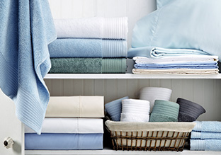 Dreamy Blues: Bath Towels & Accessories!