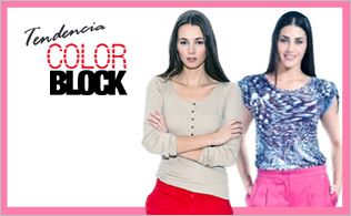 "Tendencia ""Color Block"": Rosa & Rojo"