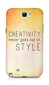 AMEZ creativity never goes out of style Back Cover For Samsung Galaxy Note 2 N7100