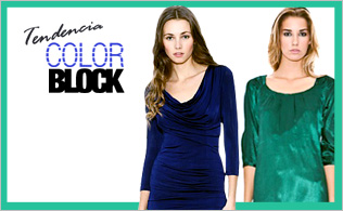 "Tendencia ""Color Block"": Azul & Verde"