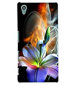 ColourCraft Beautiful Flower Design Back Case Cover for SONY XPERIA Z5