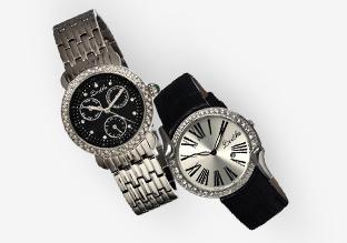 So Sleek: Black & Metallic Watches