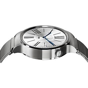 【Android Wear初 サファイアクリスタル採用】傷つきにくいガラス面。丸型デザイン&バンド・時計盤で個性を演出。