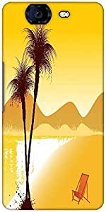 Snoogg Summer Background Designer Protective Back Case Cover For Micromax Canvas Knight A350