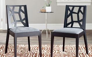 On the Edge: Chic Chairs & Accent Tables