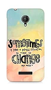 AMEZ painful situation change us Back Cover For Micromax Canvas Spark Q380