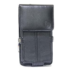 Jo Jo A6 G12 Series Leather Pouch Holster Case For Karbonn K75 Black