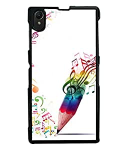 PRINTVISA Abstract Music Art Case Cover for Sony Xperia Z1::Sony Xperia Z1 L39h