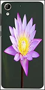 Snoogg Beautiful Purple Waterlily In A Pond Designer Protective Back Case Cover For HTC Desire 728
