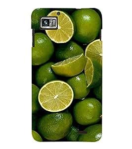 Fuson Premium Lime N Lemoni Printed Hard Plastic Back Case Cover for Lenovo S860