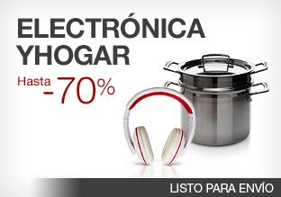 Electrónica y Hogar: -70%