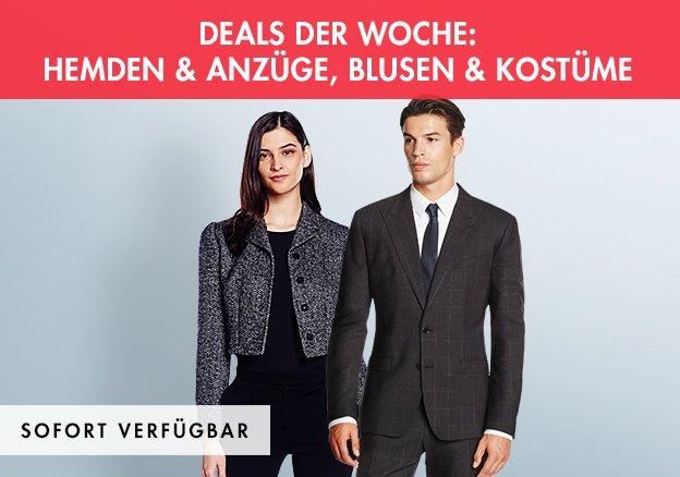 Deals der Woche: Hemden & Anzüge, Blusen & Kostüme bis zu -78%