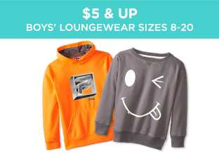$5 & Up: Boys' Loungewear Sizes 8-20