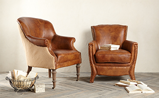 Top Grain Leather by Melange Home