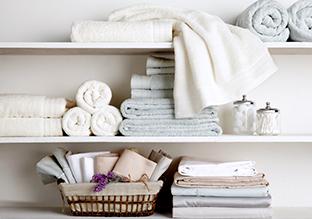 Fino al 70 % di sconto : biancheria da letto e da bagno!