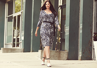Plus Size: Printed Fall Dresses