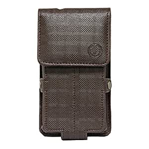 Jo Jo A6 D4 Series Leather Pouch Holster Case For Spice Dream UNO 498H Brown