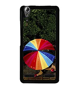 Multicolour Umbrella 2D Hard Polycarbonate Designer Back Case Cover for Lenovo A6000 Plus :: Lenovo A6000+ :: Lenovo A6000