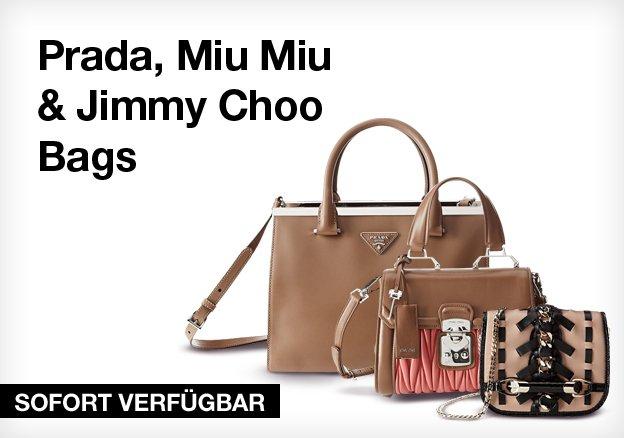 Prada, Miu Miu & Jimmy Choo Bags