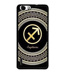 PrintDhaba Zodiac Sagittarius D-2598 Back Case Cover for HUAWEI HONOR 6 PLUS (Multi-Coloured)