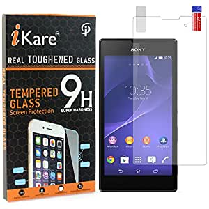 iKare Pack of 2 Tempered Glasses for Sony Xperia T3, Tempered Screen Protector for Sony Xperia T3