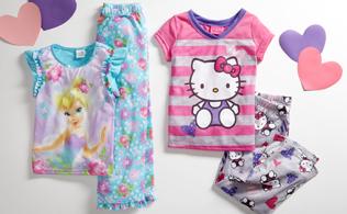 Girl's Sleepwear: Disney Princesses, Hello Kitty & More