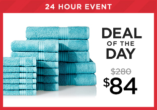 Deal of the Day: Chortex of England 17-pc. Towel Set at $84!