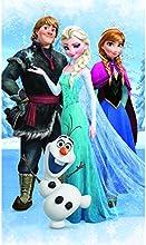 Disney Frozen - Telo bagno vellutato, motivo: Frozen, il regno di ghiaccio, con Olaf, 70 x 120 cm