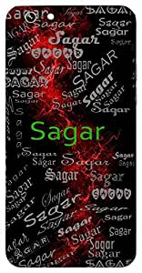 Sagar (Ocean, Sea,King) Name & Sign Printed All over customize & Personalized!! Protective back cover for your Smart Phone : Moto E-2 ( 2nd Gen )