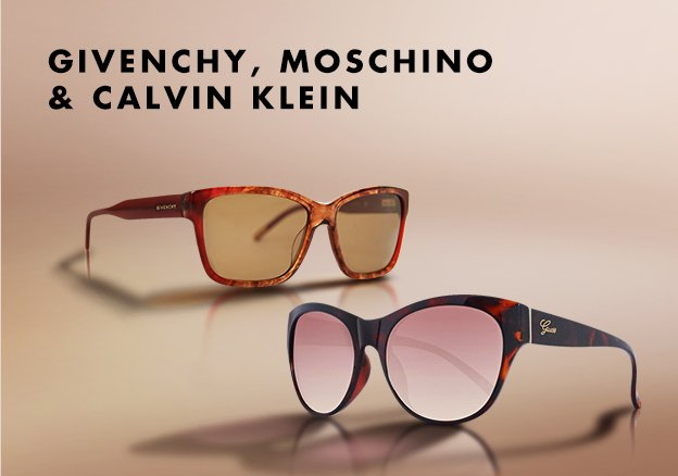 Givenchy, Moschino and Calvin Klein