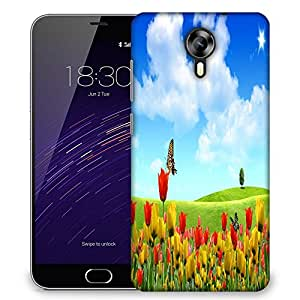 Snoogg Butterfly In Flower Designer Protective Phone Back Case Cover For Meizu M2