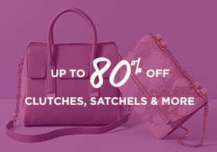 Up to 80% Off: Clutches, Satchels & More
