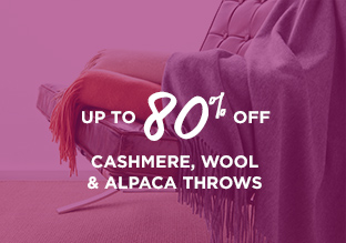 Up to 80% Off: Cashmere, Wool & Alpaca Throws