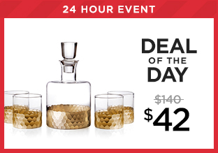Deal of the Day: Fitz & Floyd Whiskey Decanter Set at $42!