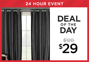 Deal of the Day: Set of 2 Blackout Curtains at $29!