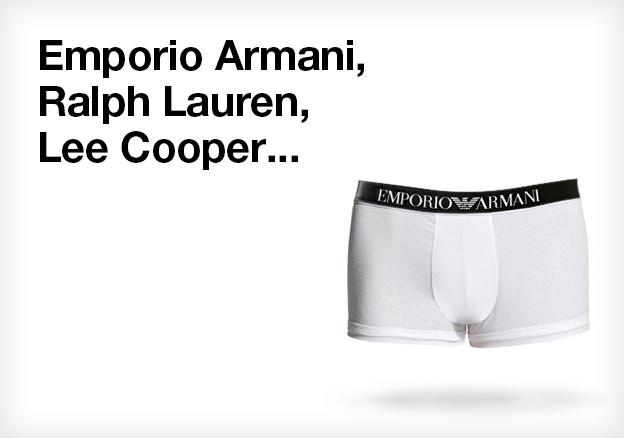 Emporio Armani, Ralph Lauren, Lee Cooper...