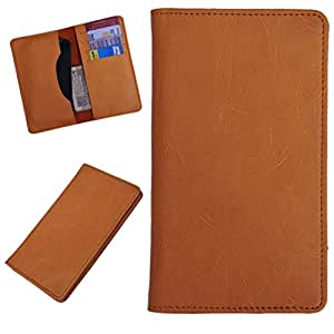 DCR Pu Leather case cover for Maxx AX8 NOTE I (orange)
