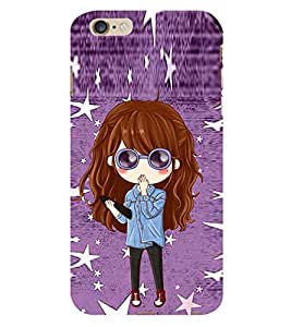 Cute Girl with Specs 3D Hard Polycarbonate Designer Back Case Cover for Apple iPhone 6s Plus :: Apple iPhone 6s+