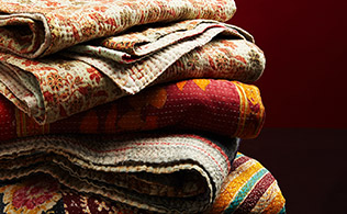 One of a Kind Kantha Throws!