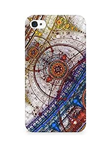 Amez designer printed 3d premium high quality back case cover for Apple iPhone 4s (Abstract)