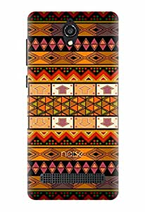 Noise Ancient Shapes Printed Cover for Micromax Canvas Blaze 4G Q400