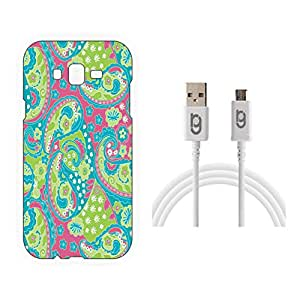Designer Hard Back Case for Samsung Galaxy J5 with 1.5m Micro USB Cable