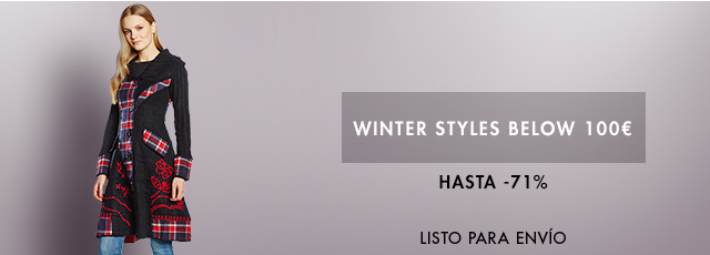 Winter Styles below 100 Euro up to -71%