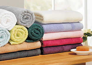 Drenched in Color: Bath Towels!