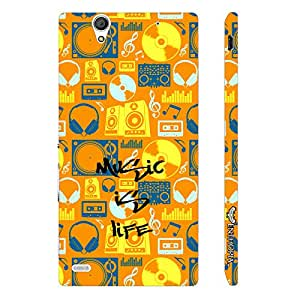 Sony Xperia C4 Music if Life designer mobile hard shell case by Enthopia