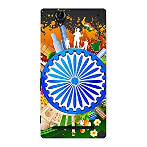 Abstract India Back Case Cover for Sony Xperia T2