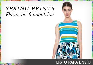 Spring prints: floral vs. geométrico!